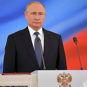 INAUGURATION OF VLADIMIR PUTIN: PRESIDENT SUPPORTED BY WOMEN