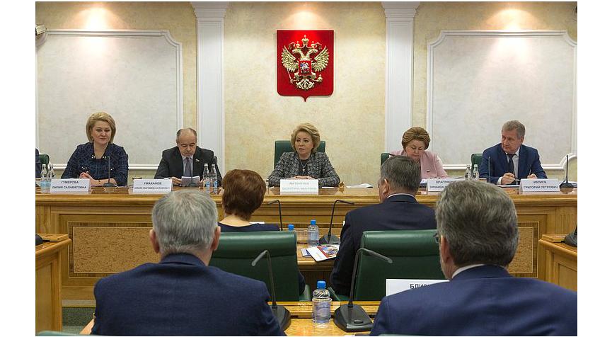 Татьяна Рыбкина представила пряник, гармонь исамовар вСовете Федерации