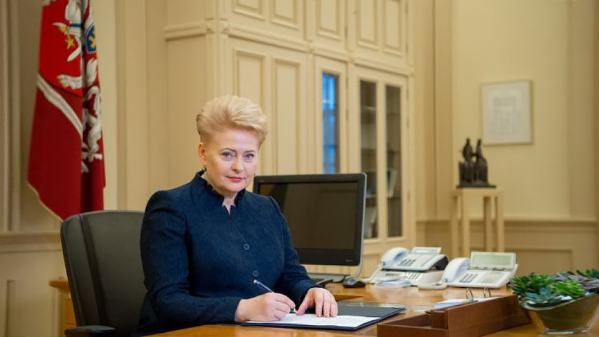 Делегация РФ вОрганизации Объединенных Наций нестала слушать выступление президента Литвы